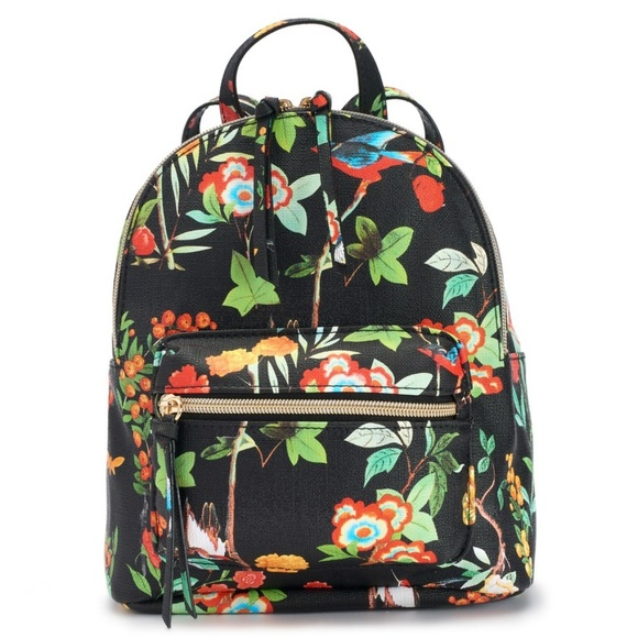 NWT Black Floral Mini Backpack